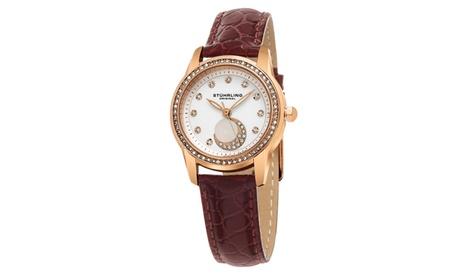 Stuhrling Original Women's Symphony Leather Strap Watch GP15716 93415cba-5bbd-491e-a599-9a3bb4d20616