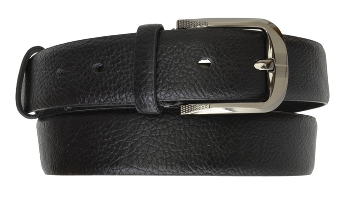 AFONiE Genuine Leather Dress Belt with Buckle for Men