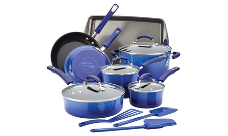 Rachael Ray Hard Enamel Nonstick 14pc Cookware Set c715496b-4b24-4f5c-951f-8666e0335ac8