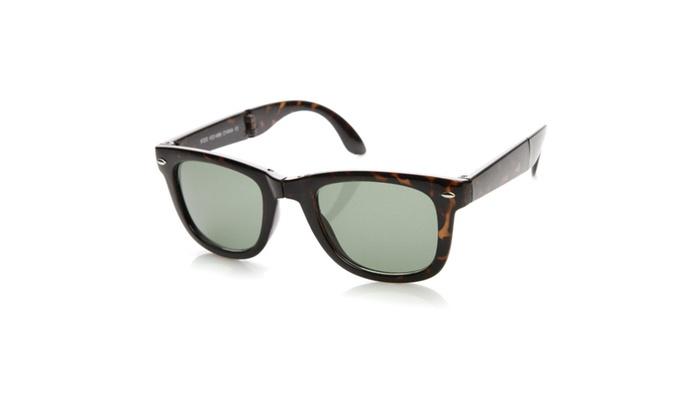 Classic Compact Folding Wayfarer Old School Retro Vintage Sunglasses