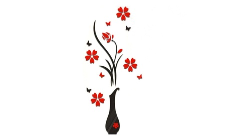 Removable Decal Large Vinyl Wall Stickers 3D Romantic Rose Flower 8a62e1ca-6027-4712-94b5-293e05571a1d