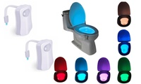 2 Pack 8 Colors Led Motion Sensor Activated Toilet Night Light
