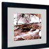 Monica Fleet 'Cold Warmth' Matted Black Framed Art