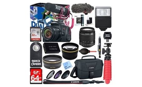 Canon EOS Rebel T7i Digital SLR Camera Video Creator Kit + 18-55mm Zoo 5fc14869-93b0-4822-bf09-2e75ab57b9be