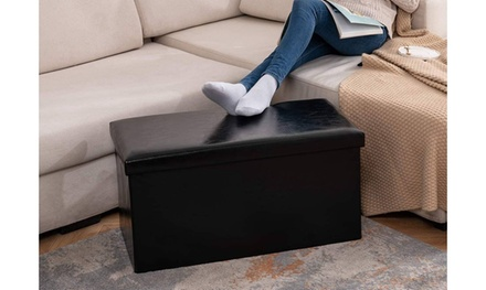 30 inches Folding Storage Ottoman Bench
