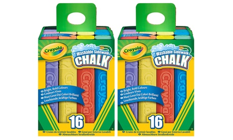 Crayola Washable Sidewalk Chalk 16 Count Bold Colors - Pack of 2 8ece3858-3066-43cf-a1e3-6b5780d9058d