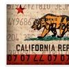 Rustic Americana State License Plate Designs