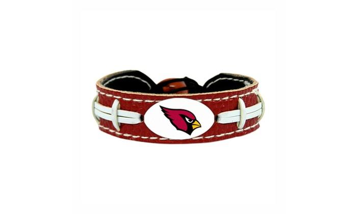 NFL Gamewear Leather Football Bracelet