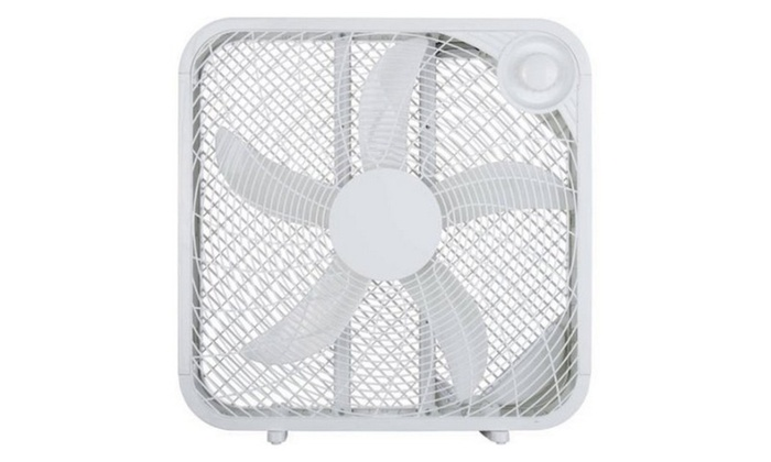 20 Box Fan In Purple, Red, And White