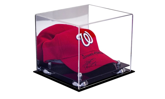 5822cd1cc86 ... Acrylic Display Case for Sports Baseball Hat or Cap with UV Protection  ...