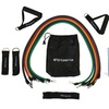 Athleema 11 pc Tube Resistance Band Set with Door Anchor, Ankle Straps