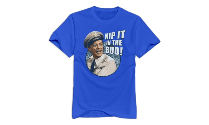 3T-tshirts Andy Griffith Show Men's T-Shirt Nip It In The Bud