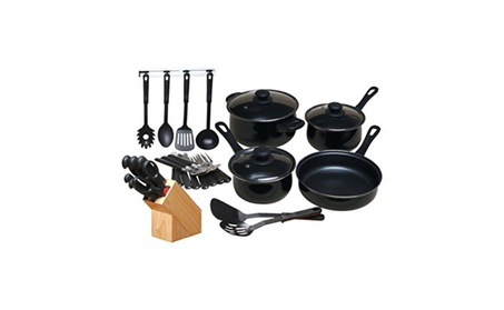 Gibson 64269.32 Gh 32pc Nonstick Cookwrest Blk photo