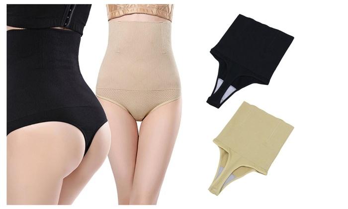 35c2d6f8c76 Women s Shapewear High Waist Thong Tummy Control Body Shaper Panties ...