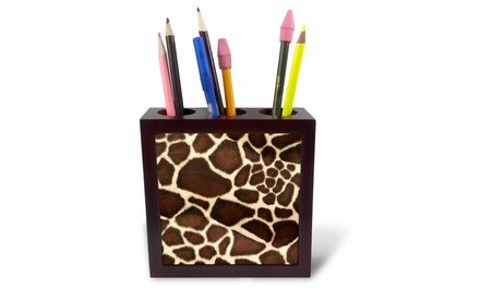 Tile Pen Holder - Giraffe Coat - 5-inches