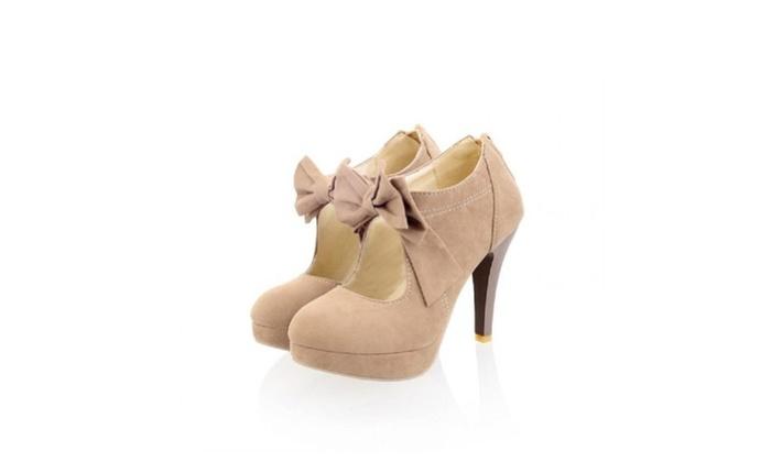 Charm Foot Womens Platform High Heel Summer Ankle Boots