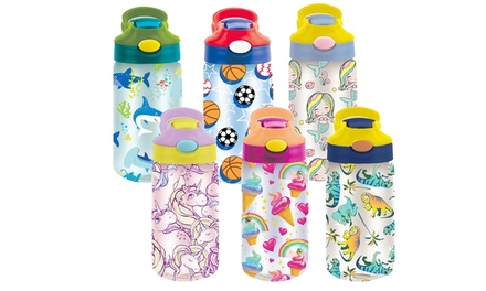 6-Pack Kid's Assorted Water Bottles With Auto Straw - BPA Free Was: $99.99 Now: $24.99.