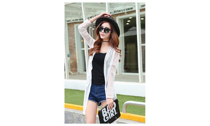 Women Long Sleeved Thin Striped Shirt & Blouse – JPWSB776-JPWSB775
