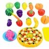 24 Pcs/ Set Plastic Fruit Vegetable Kitchen Cutting Toys