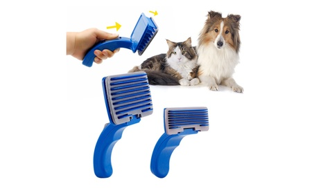 Self Cleaning Slicker Brush Pet Dog Cat Grooming Comb Shedding Tool 7ec0fcb5-c14c-4666-92d8-ae06619b538a