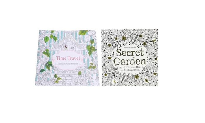 Adult Coloring Book Secret Garden And Time Travel Entertainment Books