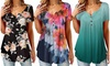 Women's Button Up Summer Short Sleeve Casual Tops Tunic Shirts Blouses
