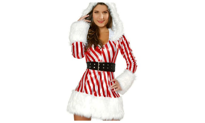 Women's Sexy Candy Cane Costume – one size