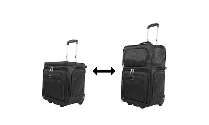 Ciao Expandable Underseat Bag Carry On Luggage Groupon