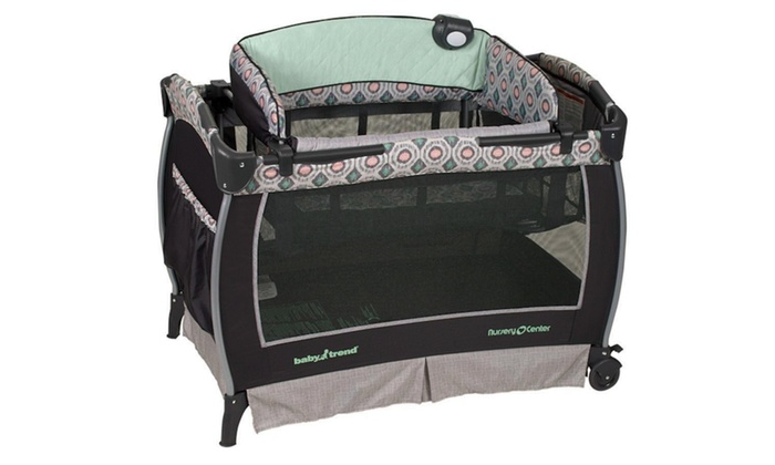 Baby Trend Deluxe Crib Playpen Haven Portable Nursery Center