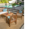Mondes Outdoor Wooden Seating Set with Table (4-Piece)