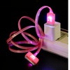 30 Pin Led Smiling Face Usb Cable Pink