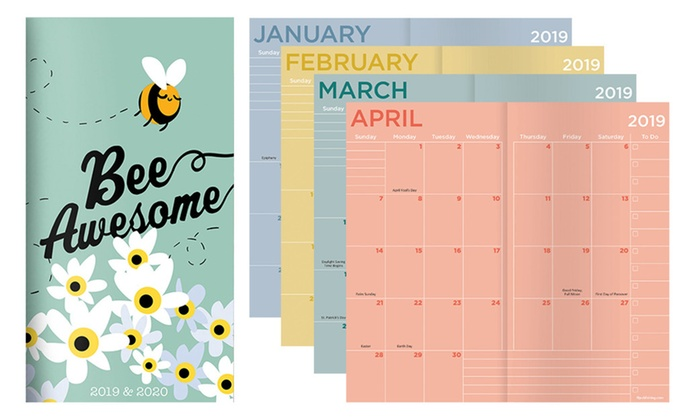 Kohls Coupons January 2020 Calendar 2019 2020 Bee Awesome 2 Year Pocket Planner | Groupon