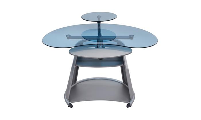 Studio Designs Home Office Neptune Computer Desk Silver ...