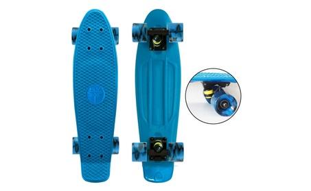 """22"""" Mini Retro Plastic Cruiser Skateboard - Midnight Blue Swirl ea607ade-c875-4075-a0dc-b1fb74f9145e"""