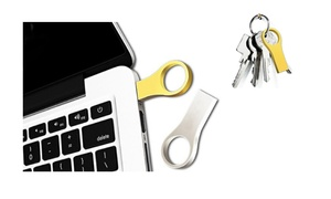 Waterproof Metal Ring USB Flash Drive (16GB or 32GB)