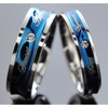 1pcs His and Hers Promise Blue Love Couple Ring Wedding Engagement
