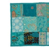 Timbuktu Turquoise Cotton and Poly Recycled Sari Set of 4 Placemats