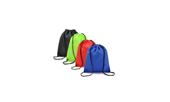 Tote Gym Beach Waterproof Drawstring Cinch Sack Backpack