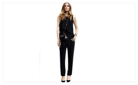 Women's Sleeveless Vest Siamese Trousers Jumpsuit - TCWJ019