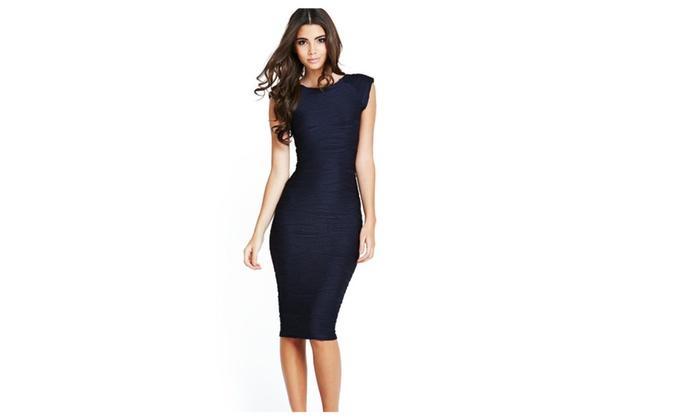 Women's Sleeves Pencil Style Bodycon Dress - JPWD097