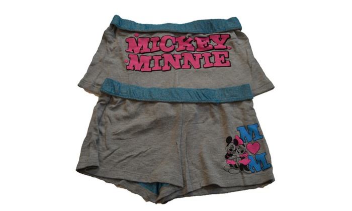 Genuine Disney Junior Pajama Shorts Minnie & Mickey Mouse