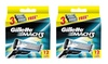 Gillette Mach3 Refill Razor Blade Cartridges, 12 Count (Pack of 2)