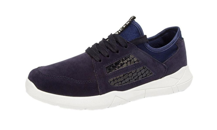 Men's Casual Round Toe Suede Sneakers