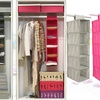 5-Compartment Foldable Hanging Wardrobe Shelf Organizer