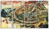 Mountain Bike Oil Painting Metal Wall Art 48x28 4 Panels