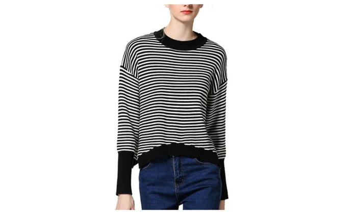 Women's Casual Printed Straight Hem Long Sleeve Pullovers