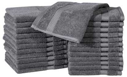 Shop Groupon 100% Combed Cotton Hand Towels Or Washcloths Set (12  Or  24 Piece