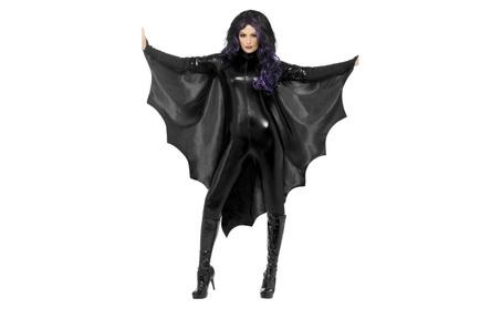 Women's Halloween Carnival Cosplay Vampire Bat Wings Costume Jumpsuit ad100099-358e-4477-b853-447f7c004d53