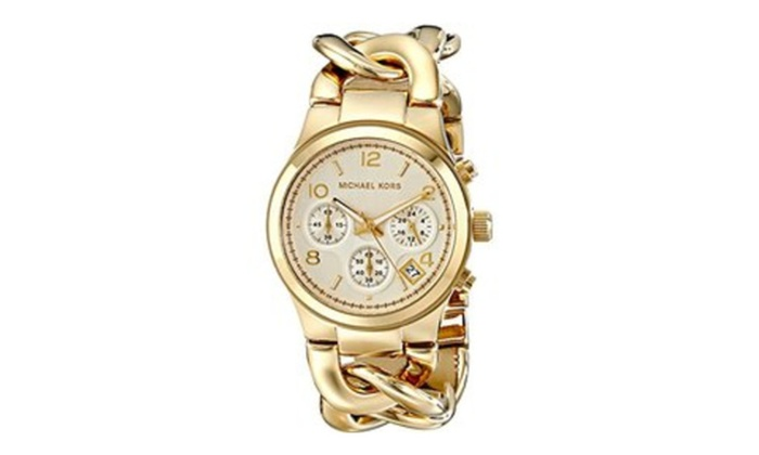 eaadb7ffd73a Michael Kors women s runway gold-tone watch MK3131