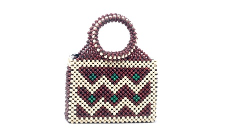 Ocean wave handbag beaded vintage mini backpack purse shoulder bag (Goods Women's Fashion Accessories Handbags) photo
